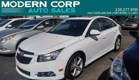 2012 Chevrolet Cruze for sale at Modern Auto Sales in Fort Myers FL
