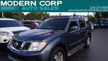 2008 Nissan Pathfinder for sale at Modern Auto Sales in Fort Myers FL