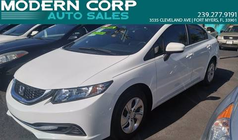 2014 Honda Civic for sale at Modern Auto Sales in Fort Myers FL