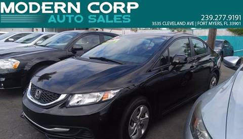2013 Honda Civic for sale at Modern Auto Sales in Fort Myers FL