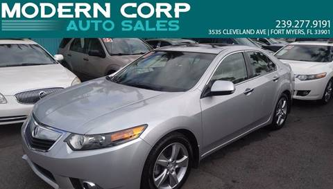 2011 Acura TSX for sale at Modern Auto Sales in Fort Myers FL