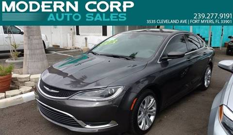 2015 Chrysler 200 for sale at Modern Auto Sales in Fort Myers FL