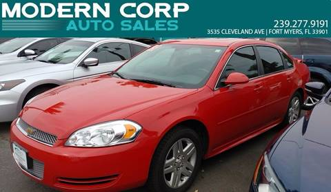 2013 Chevrolet Impala for sale at Modern Auto Sales in Fort Myers FL