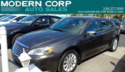 2014 Chrysler 200 for sale at Modern Auto Sales in Fort Myers FL