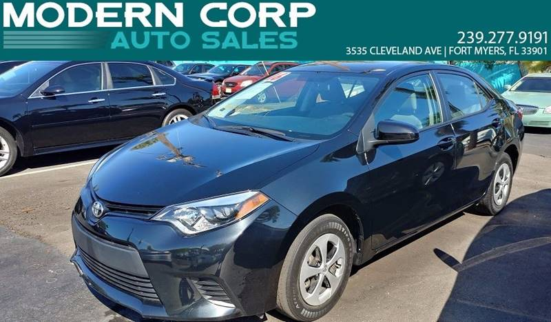 2016 Toyota Corolla for sale at Modern Auto Sales in Fort Myers FL