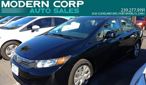 2012 Honda Civic for sale at Modern Auto Sales in Fort Myers FL