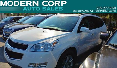 2012 Chevrolet Traverse for sale at Modern Auto Sales in Fort Myers FL