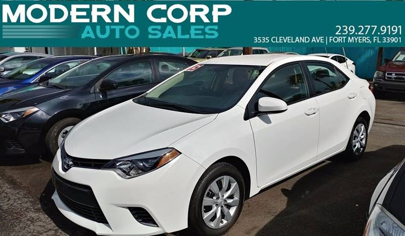 2015 Toyota Corolla for sale at Modern Auto Sales in Fort Myers FL