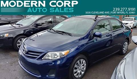 2013 Toyota Corolla for sale at Modern Auto Sales in Fort Myers FL