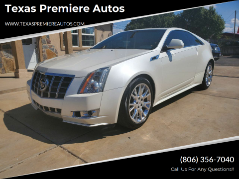 2012 Cadillac CTS for sale at Texas Premiere Autos in Amarillo TX