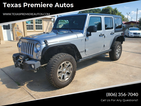 2015 Jeep Wrangler Unlimited for sale at Texas Premiere Autos in Amarillo TX