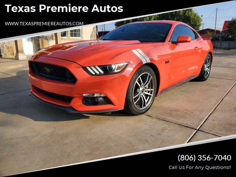 2016 Ford Mustang for sale at Texas Premiere Autos in Amarillo TX