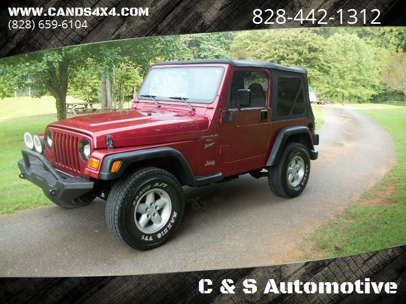 1999 Jeep Wrangler For Sale At C U0026 S Automotive In Nebo NC