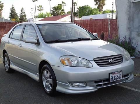 2004 Toyota Corolla for sale at Moon Auto Sales in Sacramento CA