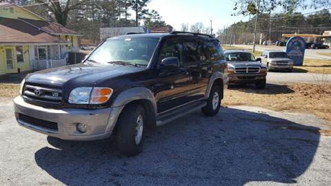2002 Toyota Sequoia for sale at WIGGLES AUTO SALES INC in Mableton GA