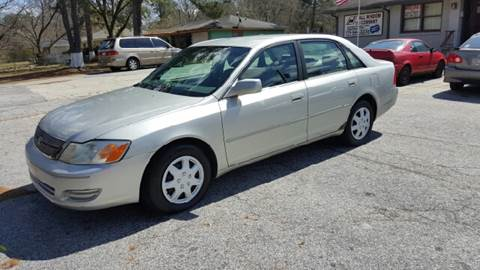 2002 Toyota Avalon for sale at WIGGLES AUTO SALES INC in Mableton GA