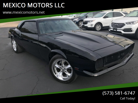 1968 Chevrolet Camaro for sale at MEXICO MOTORS LLC in Mexico MO