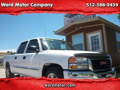2006 GMC Sierra 1500 for sale at Ward Motor Company in Burnet TX