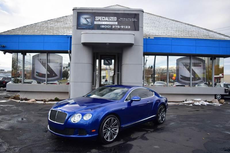 2013 Bentley Continental Gt Speed In Salt Lake City Ut