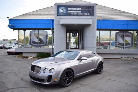 Bentley Continental For Sale In Salt Lake City Ut Specialized