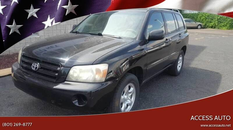 2005 Toyota Highlander for sale at Access Auto in Salt Lake City UT