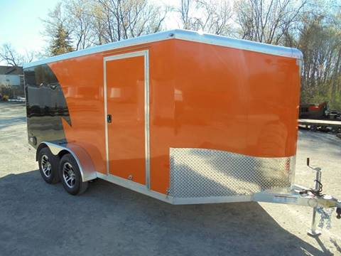 2017 Neo 7x14 V-Nose Motorcycle Trailer