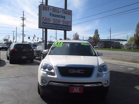 2010 GMC Acadia for sale in Warren, MI