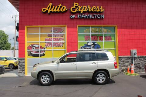 2003 Toyota Highlander for sale at AUTO EXPRESS OF HAMILTON LLC in Hamilton OH