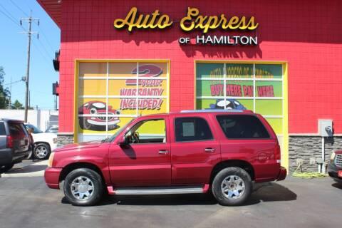 2005 Cadillac Escalade for sale at AUTO EXPRESS OF HAMILTON LLC in Hamilton OH