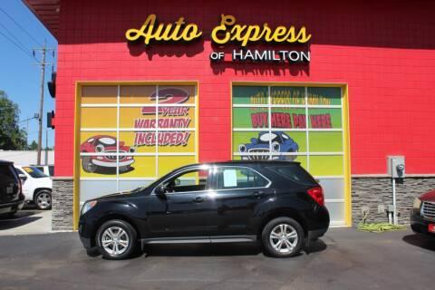 2012 Chevrolet Equinox for sale at AUTO EXPRESS OF HAMILTON LLC in Hamilton OH