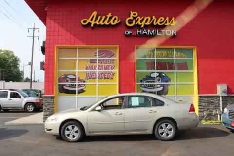 2008 Chevrolet Impala for sale at AUTO EXPRESS OF HAMILTON LLC in Hamilton OH