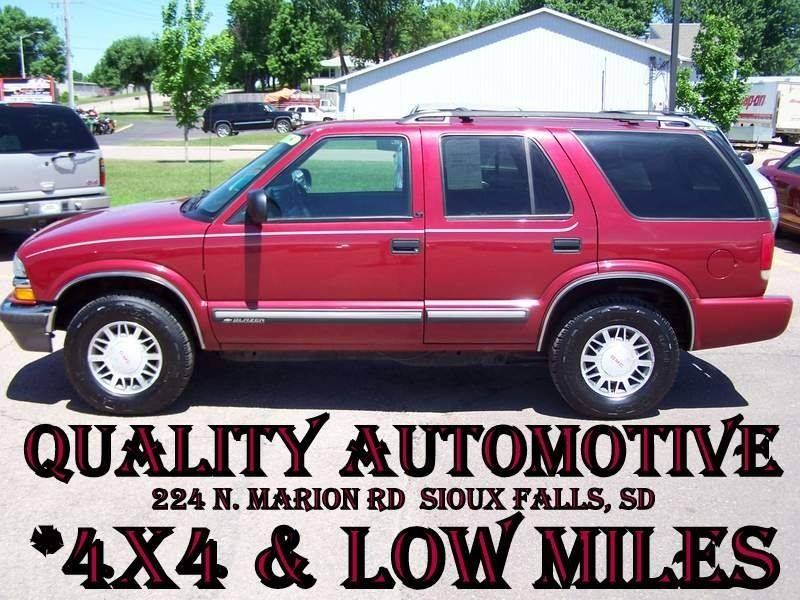 2001 Chevrolet Blazer Lt In Sioux Falls Sd Quality Automotive