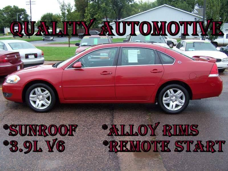 2007 Chevrolet Impala For Sale At Quality Automotive In Sioux Falls SD