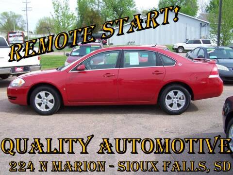 2008 Chevrolet Impala for sale at Quality Automotive in Sioux Falls SD