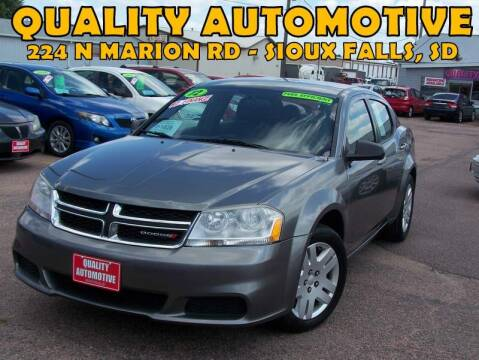 2012 Dodge Avenger for sale at Quality Automotive in Sioux Falls SD