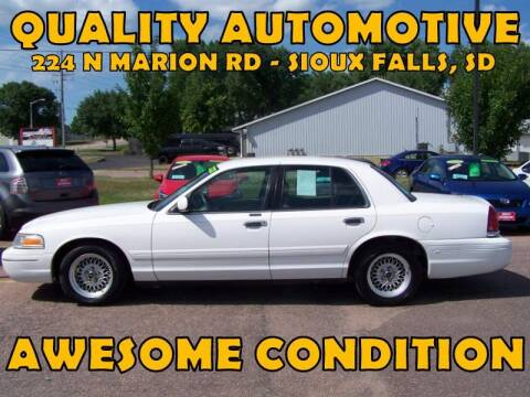 2000 Ford Crown Victoria for sale at Quality Automotive in Sioux Falls SD