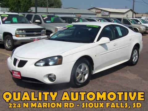 2006 Pontiac Grand Prix for sale at Quality Automotive in Sioux Falls SD