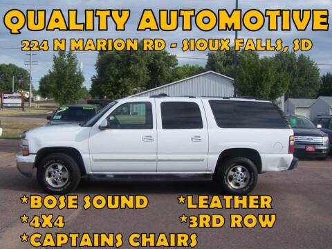 2004 Chevrolet Suburban for sale at Quality Automotive in Sioux Falls SD
