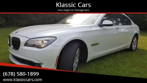 2009 BMW 7 Series for sale at Klassic Cars in Lilburn GA