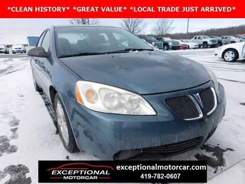 2006 Pontiac G6 for sale in Defiance, OH