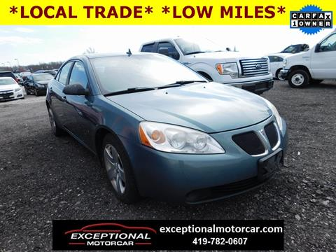 2009 Pontiac G6 for sale in Defiance, OH