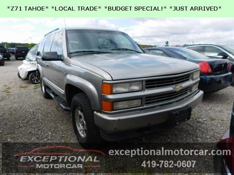2000 Chevrolet Tahoe Limited/Z71 for sale in Defiance, OH