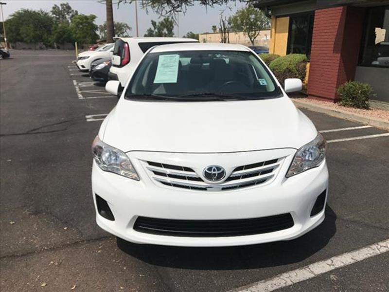 2013 TOYOTA COROLLA LE 4DR SEDAN 4A unspecified one owner  clean car faxautomatic loaded gril