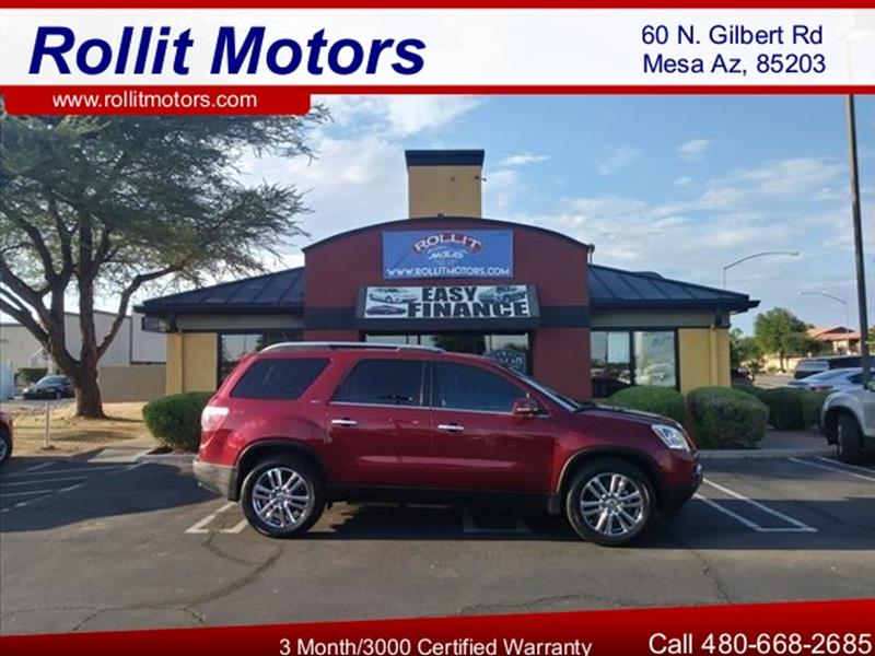 2009 GMC ACADIA SLT 1 4DR SUV unspecified one ownerthird row seating leather body side molding