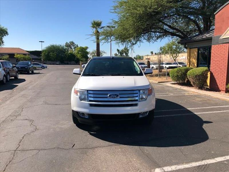 2010 FORD EDGE LIMITED 4DR CROSSOVER white top of the line leathermoonroof exhaust tip color ch