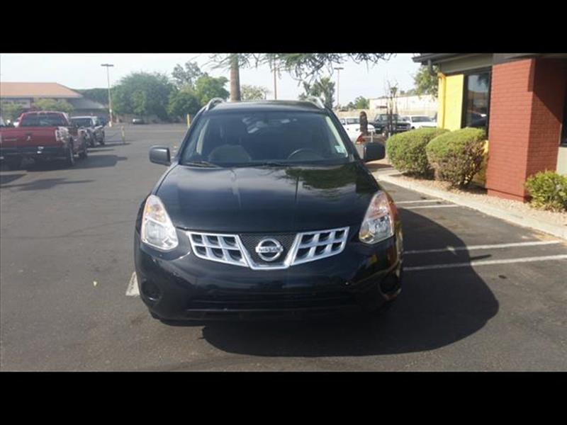 2014 NISSAN ROGUE SELECT S AWD 4DR CROSSOVER black body side moldings chromeexhaust tip color st