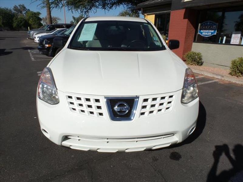 2009 NISSAN ROGUE S AWD CROSSOVER 4DR white all wheel drive  exhaust tip color stainless-steel