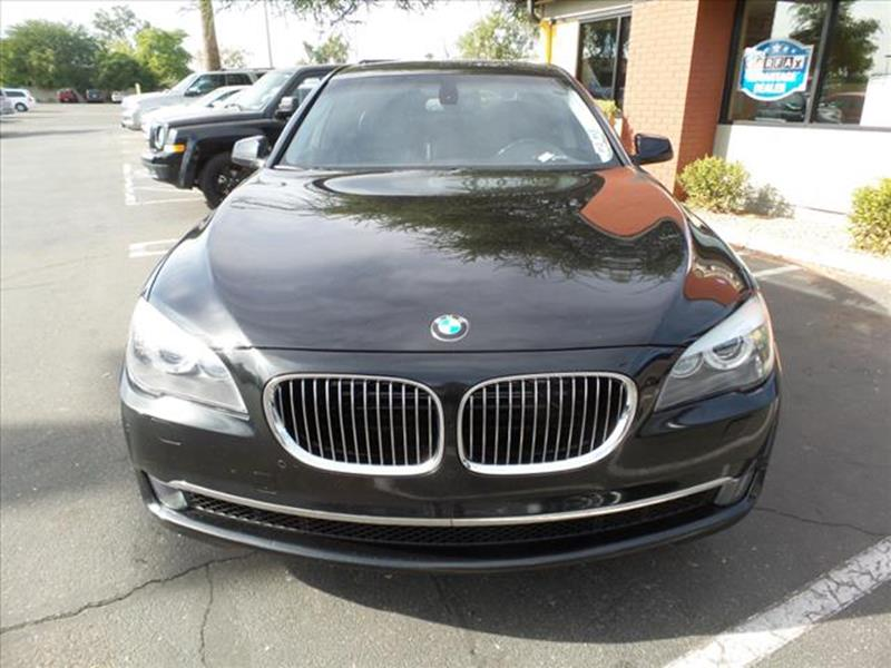 2012 BMW 7 SERIES 750LI 4DR SEDAN black one owner  exhaust tip color chromeexhaust dual exhau