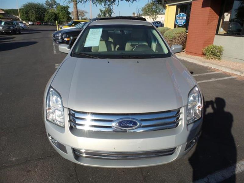 2009 FORD FUSION SEL 4DR SEDAN tan loaded moonroof leather body side moldings body-colorgrill