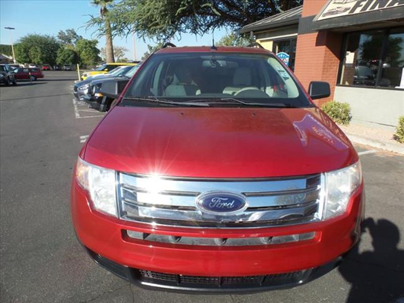2009 FORD EDGE SE 4DR CROSSOVER red exhaust tip color chromeexhaust dual exhaust tipsgrille col